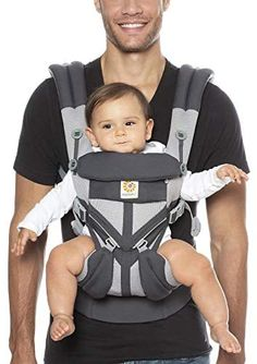 Ergobaby Omni 360 All-Position Baby Carrier for Newborn to Toddler with Lumbar Support and Cool Air Mesh (7-45 Pounds), Carbon Grey : Baby