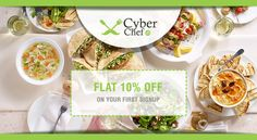 Steal a happy deal with #CyberChef, Sign Up and Get 10% off on your first meal. Enjoy delicious home cooked food at www.cyberchef.in #HomeMade #Mumbai #Gurgaon