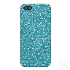 Teal Glitter iPhone 5 Covers