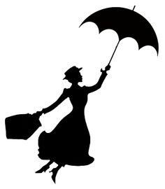 Mary Poppins Stencil everybody's favorite nanny Here's a stencil for you Disney . Mary Poppins Silhouette, Silhouettes Disney, Silhouette Cameo Projects, Silhouette Cameo Disney, Disney Castle Silhouette, Disney Princess Silhouette, Cartoon Silhouette, Silhouette Clip Art, Black Silhouette