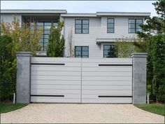 Cellular Vinyl Contemporary Gate | Entrance Gates, Wood Gates, and more from Walpole Woodworkers