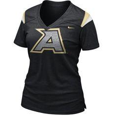Nike Army Black Knights Ladies Replica Football Premium T-Shirt - Black