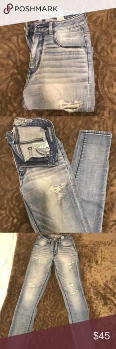 """AEO Jeggings American eagle """"sky high"""" jeggings! NWOT American Eagle Outfitters Pants Skinny"""