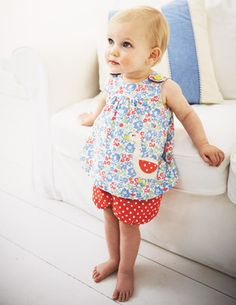 Sweet baby girl outfit from Boden