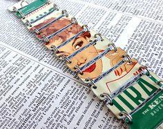 Bracelet upcycled, fabriqué à partir d