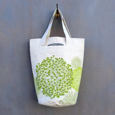 ALLIUM CARRYALL - LIME ON NATURAL