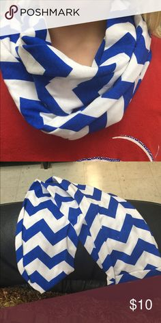 Scarf New child size Infiniti scarf. Blue and white chevron Accessories Scarves & Wraps