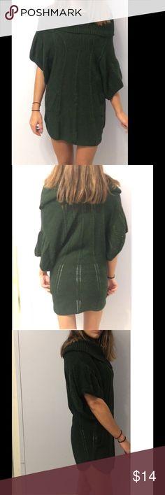 Sweater tunic Dark green Size medium BCBGMaxAzria Dresses Mini