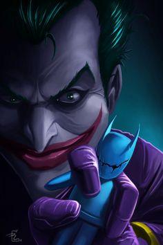 Joker With Bat Dool Mobile Wallpaper (iPhone, Android, Samsung, Pixel, Xiaomi) Joker Dc Comics, Joker Comic, Joker Art, Dc Comics Art, Joker Batman, Joker Images, Joker Pics, Joker Arkham, Joker And Harley Quinn