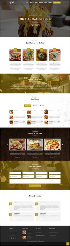 Belle is an amazing responsive 2 in 1 #bootstrap HTML #template for #Restaurants, Cafe, Cakes, Cooking, Bakeries, Pub & Sweets or Food Business website download now➩ https://themeforest.net/item/sultan-one-page-business-wordpress-theme/17090037?ref=Datasata