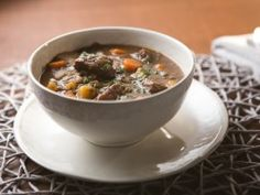 Slow Cooker Lentil-Beef Stew : Recipes : Cooking Channel -Tia made this look soon good!