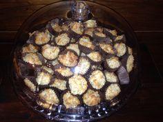 coconut balls with brown sugar