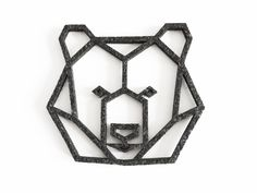geometric bear head felt coaster from enna shop by DaWanda.com