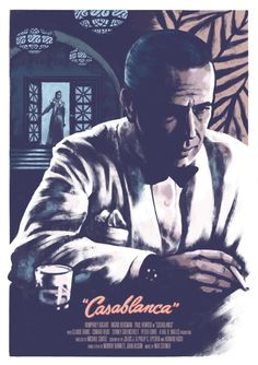 Casablanca by Kris Miklos Old Movie Posters, Classic Movie Posters, Cinema Posters, Classic Movies, Humphrey Bogart, Casablanca Movie, Casablanca 1942, Ingrid Bergman, Old Movies