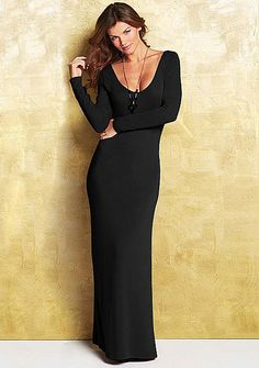 4c3a23965546a Faye Sweater Maxi Dress - Extended Length at Alloy. I've been looking for a  black long sleeved maxi!