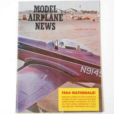 VINTAGE #Magazine Model #Airplane News November 1964 hobby #aviation plane craft #collector #hobbyist guide #Etsy