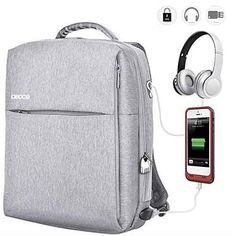 Amazing offer on OSOCE Travel Laptop Backpack Inch Business Waterproof Anti Theft Computer Bag Lock USB Charging Cable Headphone Interface Night Light Reflective College School Student Luggage Bag online - Findanew Laptop Backpack, Travel Backpack, Top Backpacks, Outdoor Backpacks, Waterproof Headphones, Latest Laptop, Checked Luggage, Business Laptop, Computer Bags
