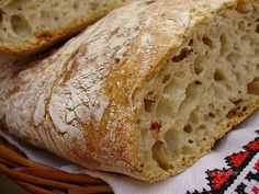 "Tento chlebík volám ""od večera do rána"", ako v tej pesničke, len mne nevyhráva… Czech Recipes, Russian Recipes, Bread Recipes, Cake Recipes, Cooking Recipes, Croissant Bread, Bread And Pastries, Pumpkin Recipes, Food And Drink"
