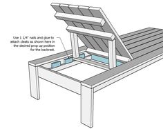 Ana White   Build a Single Lounger for the Simple Modern Outdoor Collection   Free and Easy DIY Project and Furniture Plans