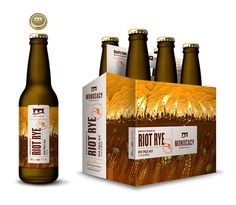 Monocacy Brewing Company Riot Rye Packaging, designed by Tribe.