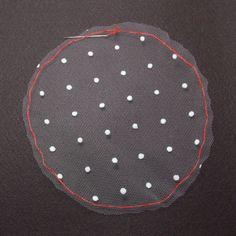 チュール素材で作るシースルーリボン(3)