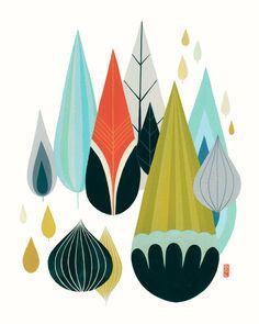 Mod Drops  Fine Art Print 8x10 by BrittDeMarisArt on Etsy
