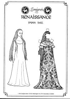 Renaissance paper doll - Honor, Loyalty and Chivalry with Castles and Paperdolls
