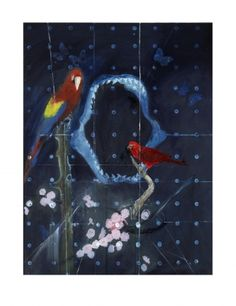 Damien Hirst: Red Bird and Parrot with Shark Jaw | White Cube