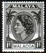 Malay State of Malacca 1954 Queen Elizabth II Head SG 23 Fine Used Scott 29 Other Malacca Stamps HERE