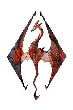 Ink Skyrim by RubisFirenos.deviantart.com on @deviantART