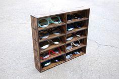 Sunglasses Display Case Storage Holder Organizer Wall Mount Shelving Shelf 3D Glasses  Rack Oak Wood on Etsy, $98.37 CAD