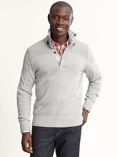 Mock-neck sweater…yes...