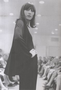 Anjelica Huston in Halston, 1970's.  He knew how to do it, and she knew how to wear it.  Still looks up-to-date.