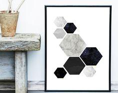Geometrico Arte nordic moderno escandinavo por MyNameIsMir