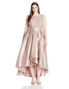 Ignite Women's Plus Size Sequin Lace Top Party Dress