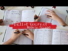 Plan with me, Bullet Journal Set Up Weekly Spread | deutsch