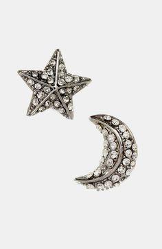 Star & Moon Earrings in Silver