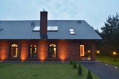 Loft, Brick Facade, Cabana, Outdoor Lighting, Home And Garden, Cottage, Exterior, Mansions, Windows