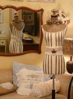 Vintage Inspired Dress Form Mannequin With Crown Belt