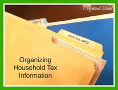 Organizing Tax Records #organizing #homeorganization