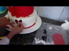 bolo infantil pasta americana da minnie_bellbolos - YouTube