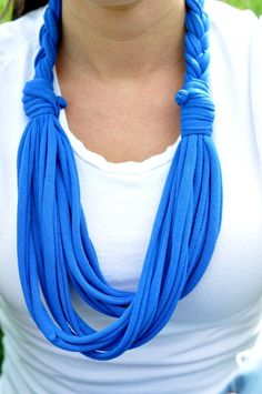 Etsy tshirt scarves | Tshirt Scarf Braided Scarf Infinity Scarves by ... | T-shirt scarves