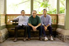 Father with grown sons © Eliza's Eye Family Photography, New York, NY