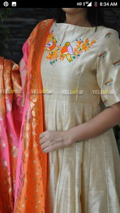 Salwar Suit Neck Designs, Neck Designs For Suits, Salwar Designs, Kurta Designs Women, Kurti Designs Party Wear, Chudidhar Designs, Kids Blouse Designs, Saree Blouse Designs, Kurti Embroidery Design