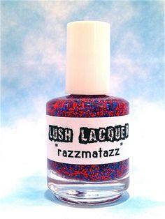 Razzmatazz :  Custom-Blended Glitter Nail Polish / Lacquer. $8.75, via Etsy.