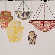 Toile de Jouy Lanterns make fabulous light fixtures.  See more at http://decoratingfiles.com/2012/07/toile-de-jouy/