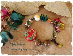 SALE++Bohemian+Art+Bracelet+Red+Bird+Colorful+by+BohoStyleMe