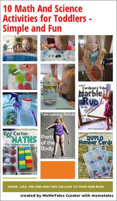Fun science and math activities for toddlers
