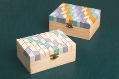 Maker Crate - Chevron Keepsake Box