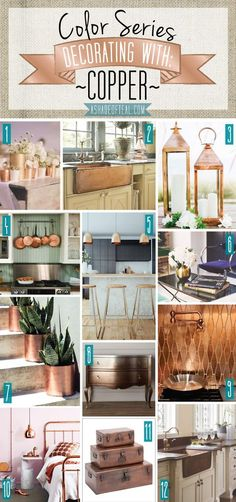 Color Series; Decorating with Copper | A Shade Of Teal